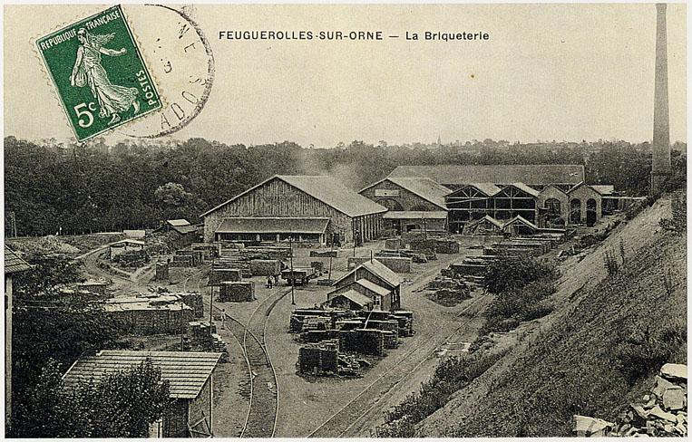 carte postale de la Briqueterie de Feuguerolles-Bully
