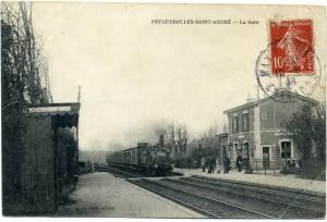 carte postale de la gare