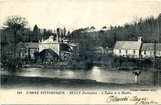 Carte postale du Moulin de Bully